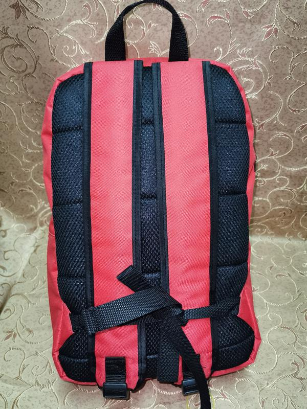 Красный молодежный ,городской, спортивный рюкзак - Фото 5