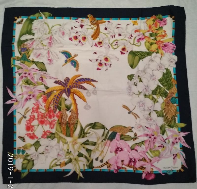 Винтаж шелковый платок от картье