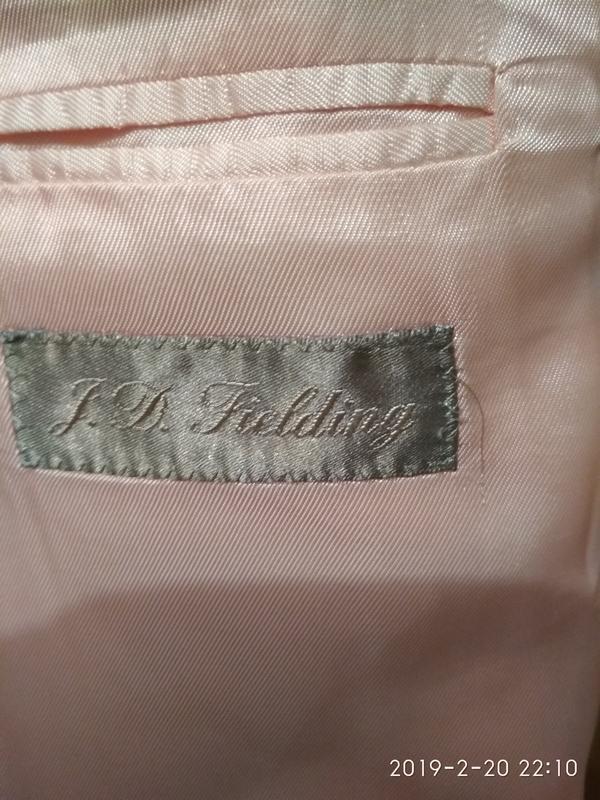 Пиджак жакет блейзер мужской легкий светлый бежевый хлопок коттон - Фото 5