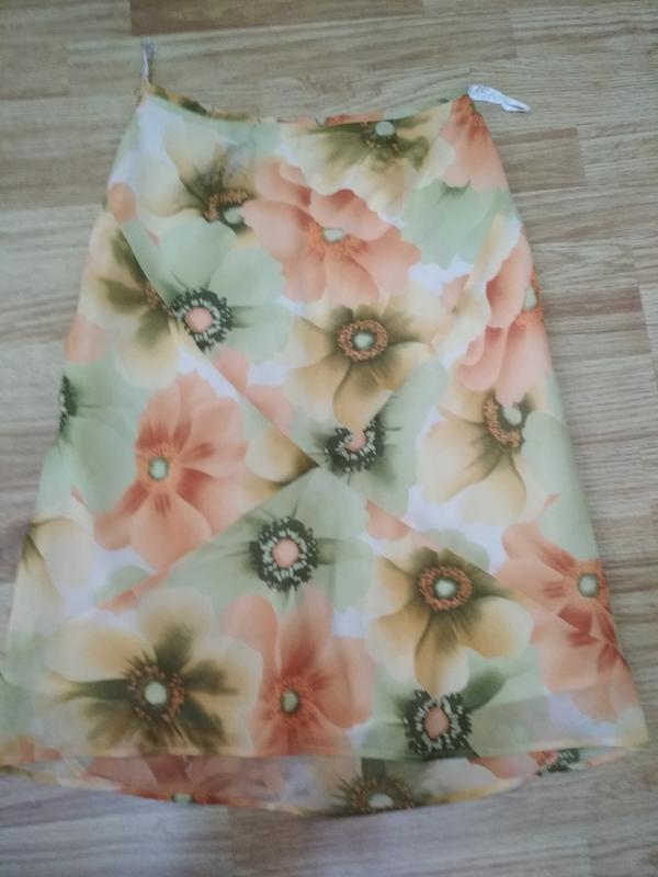 Воздушная на подкладке юбка