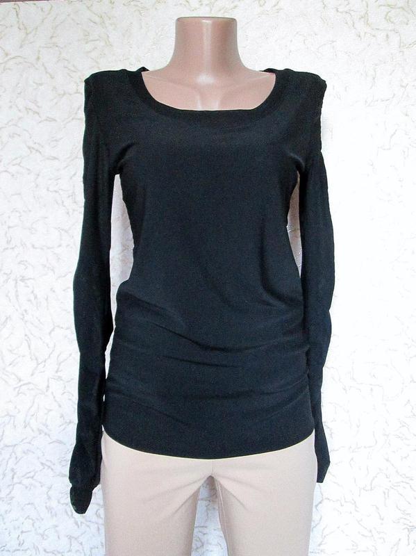 Чёрный свитер кофта водолазка сетка длинный рукав размер М-L-XL