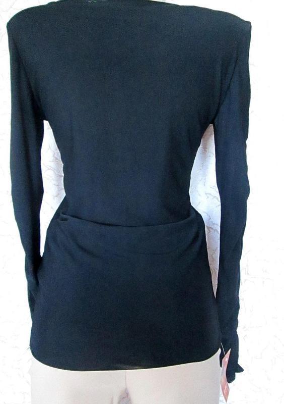 Чёрный свитер кофта водолазка сетка длинный рукав размер М-L-XL - Фото 2