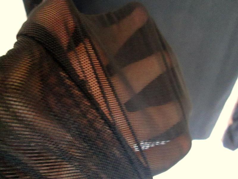 Чёрный свитер кофта водолазка сетка длинный рукав размер М-L-XL - Фото 4