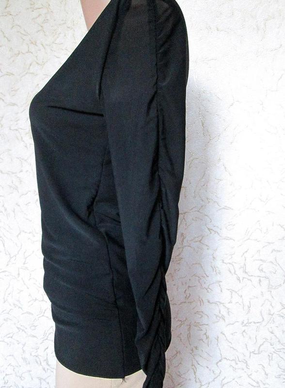 Чёрный свитер кофта водолазка сетка длинный рукав размер М-L-XL - Фото 5