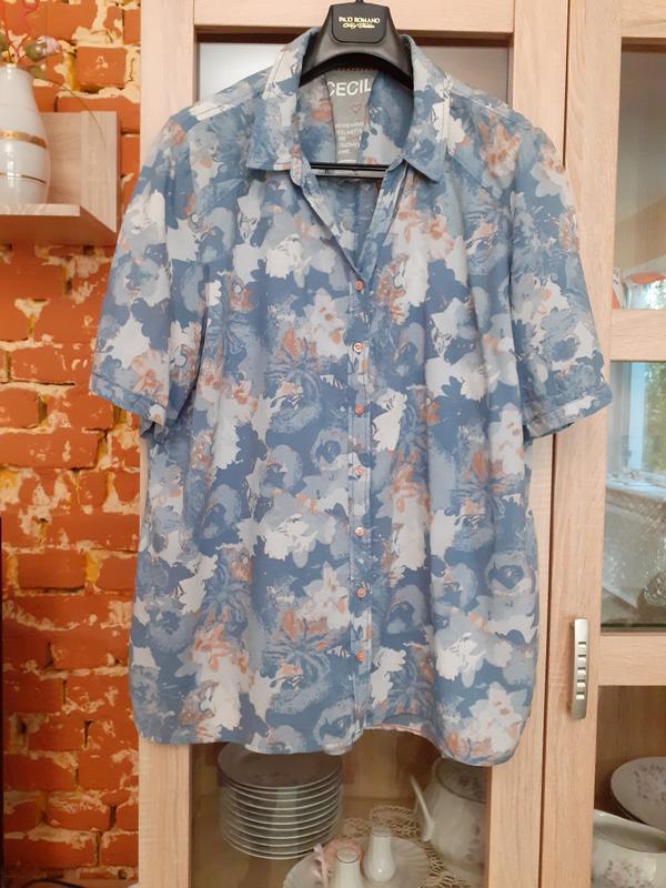Сногсшибательная натуральная рубашка cecil большого размера