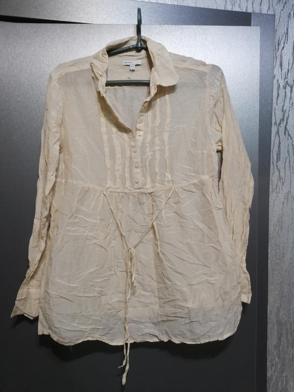 Новая блуза хлопок и шелк