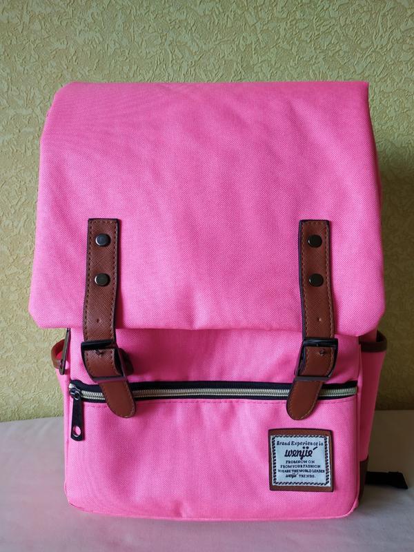 Яркий розовый рюкзак, ранец как новый