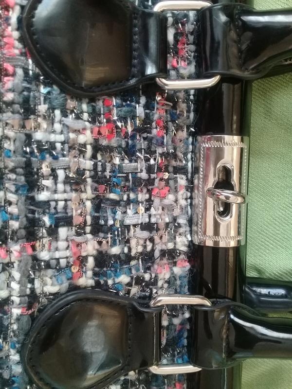 Стильная сумочка redherring германия текстиль + лак - Фото 2