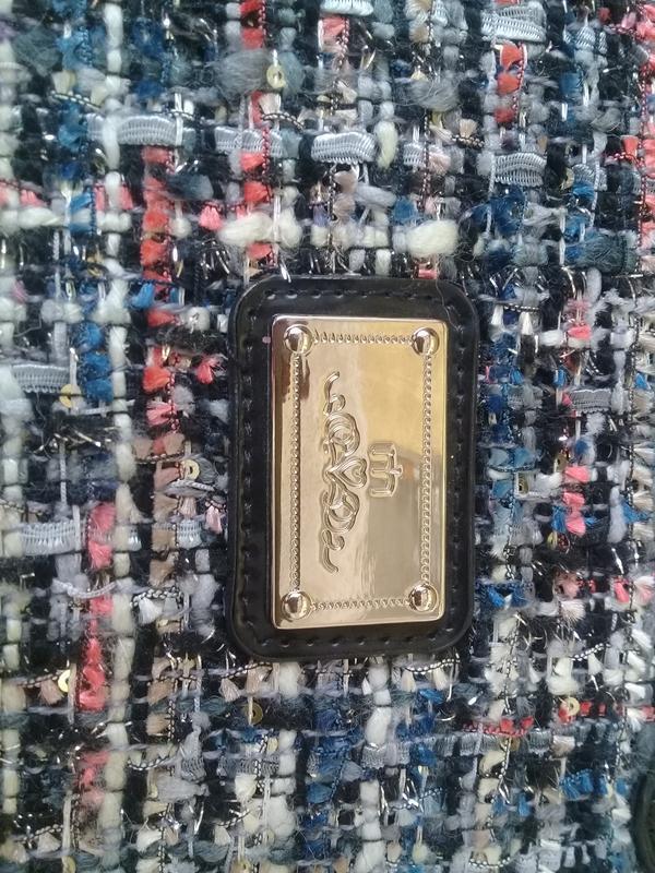 Стильная сумочка redherring германия текстиль + лак - Фото 3