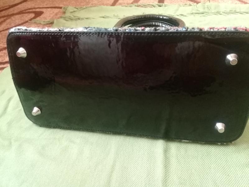Стильная сумочка redherring германия текстиль + лак - Фото 5