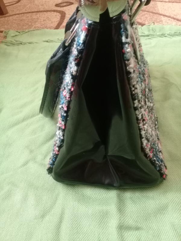 Стильная сумочка redherring германия текстиль + лак - Фото 6
