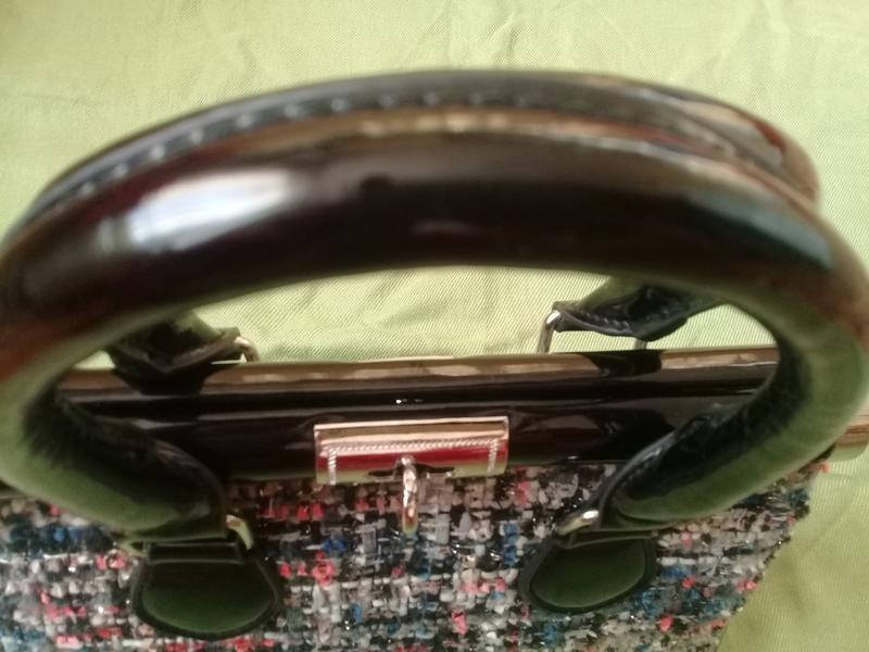 Стильная сумочка redherring германия текстиль + лак - Фото 7