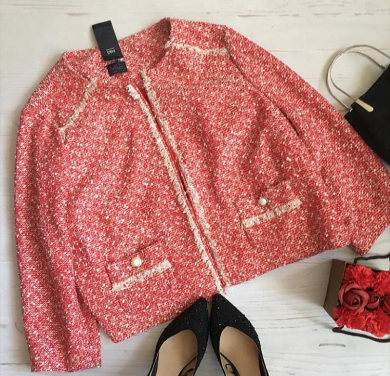 👄твидовый пиджак в стиле к.шанель без застежки 👄