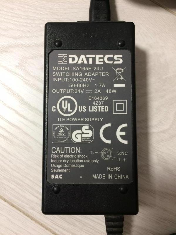 Блок питания Datecs SA165E-24U