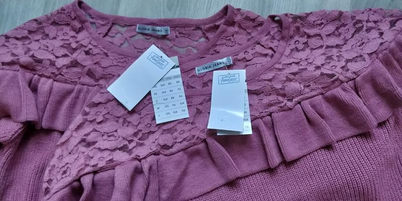 Новая женская кофта свитер с ажурными вставками - Фото 4
