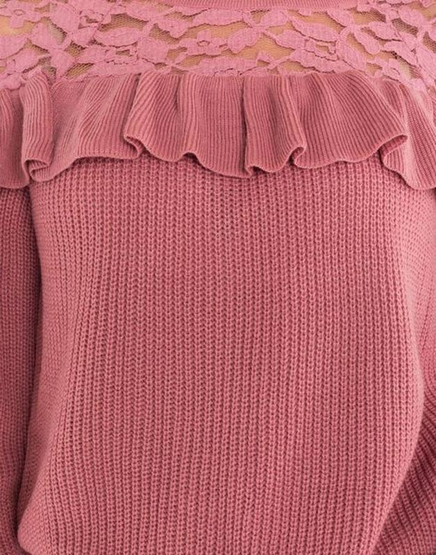 Новая женская кофта свитер с ажурными вставками - Фото 9