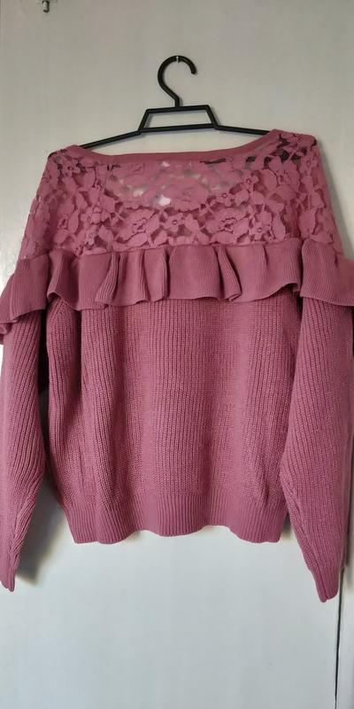 Новая женская кофта свитер с ажурными вставками - Фото 10
