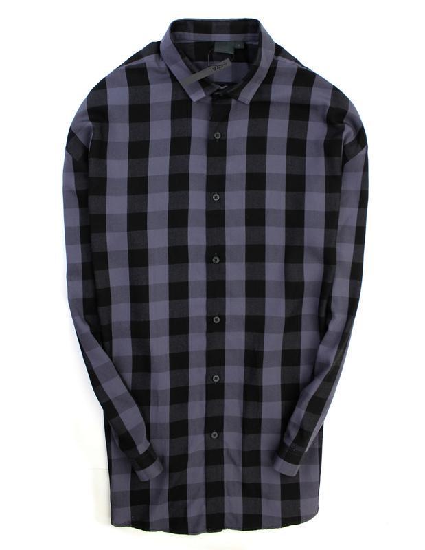 Asos удлинённая рубашка оверсайз из вискозы