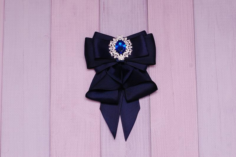 Галстук темно-синий