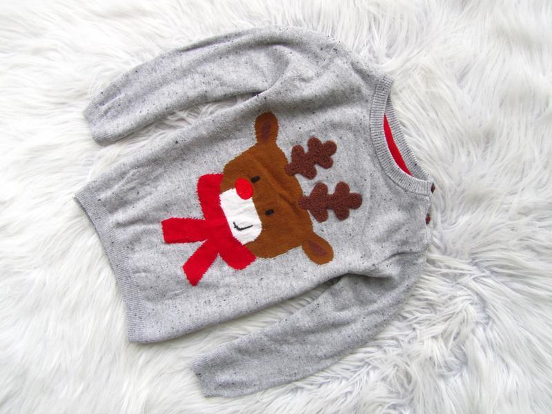 Свитшот кофта свитер джемпер h&m новогодний олень новый год