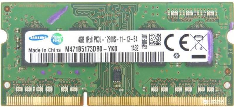 Оперативная память для Ноутбука - Samsung 4Gb DDR3-12800s - в ...