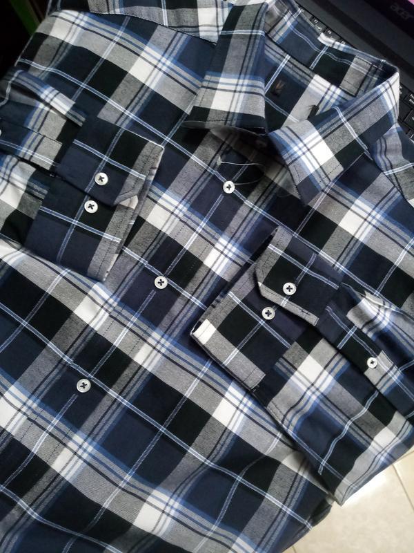 100% хлопок! фирменная мужская рубашка демисезон 41\42 германи...