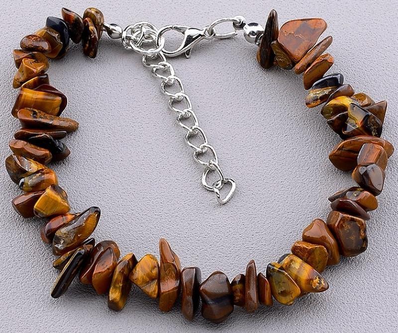 Шикарный браслет из натурального камня тигровый глаз.