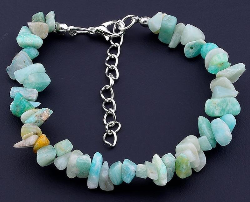 Шикарный браслет из натурального камня амазонит.