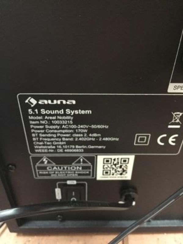 Акустическая система Auna Areal 652 5.1 - Фото 5