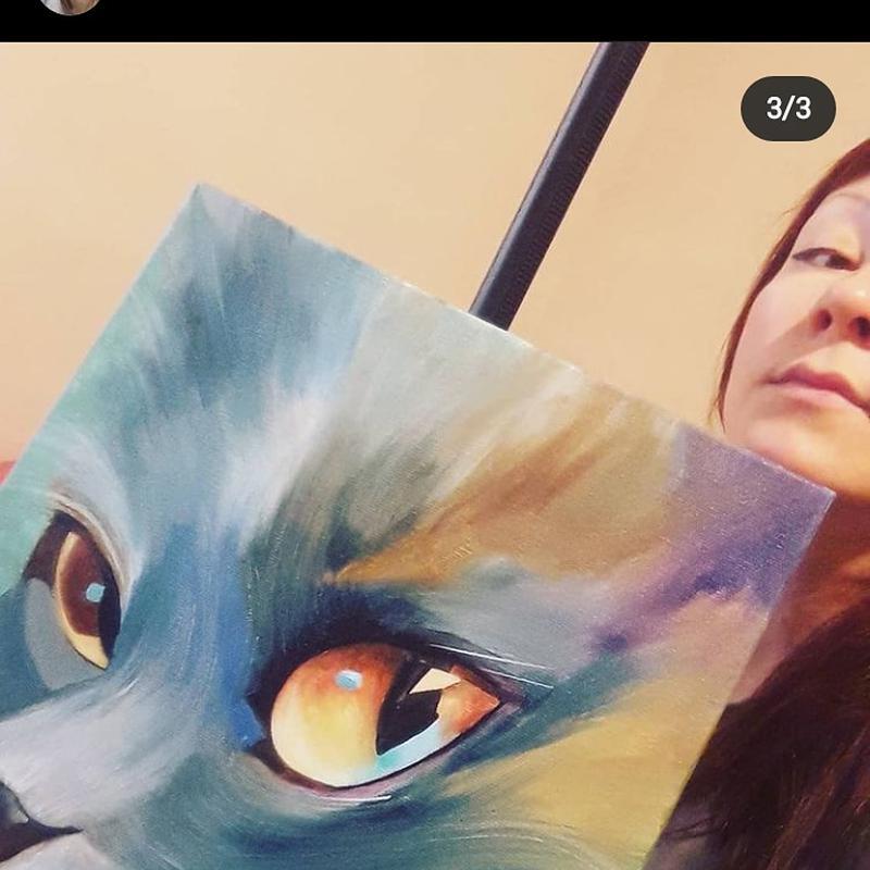 Картина маслом Космический кот холст масло