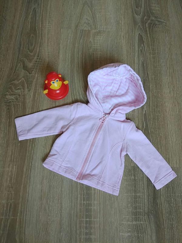 Курточка с капюшоном на девочку 1-3 мес.