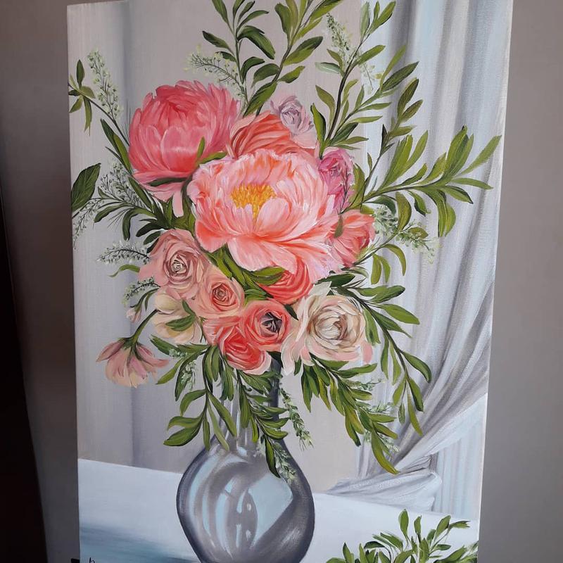 Картина маслом Цветы для тебя масло холст