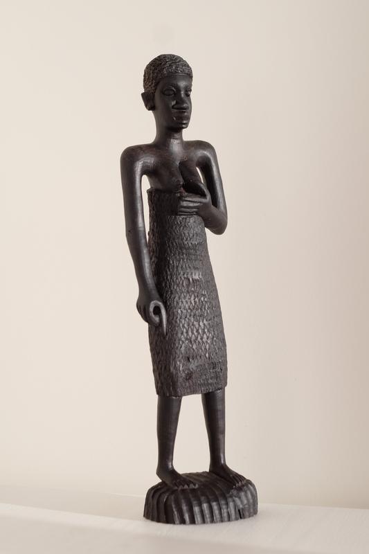 Большая статуэтка скульптура черное дерево эбен женщина африка