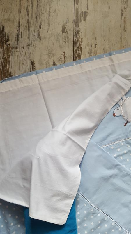 Комплект постельного белья в кроватку для мальчика в горошек - Фото 2