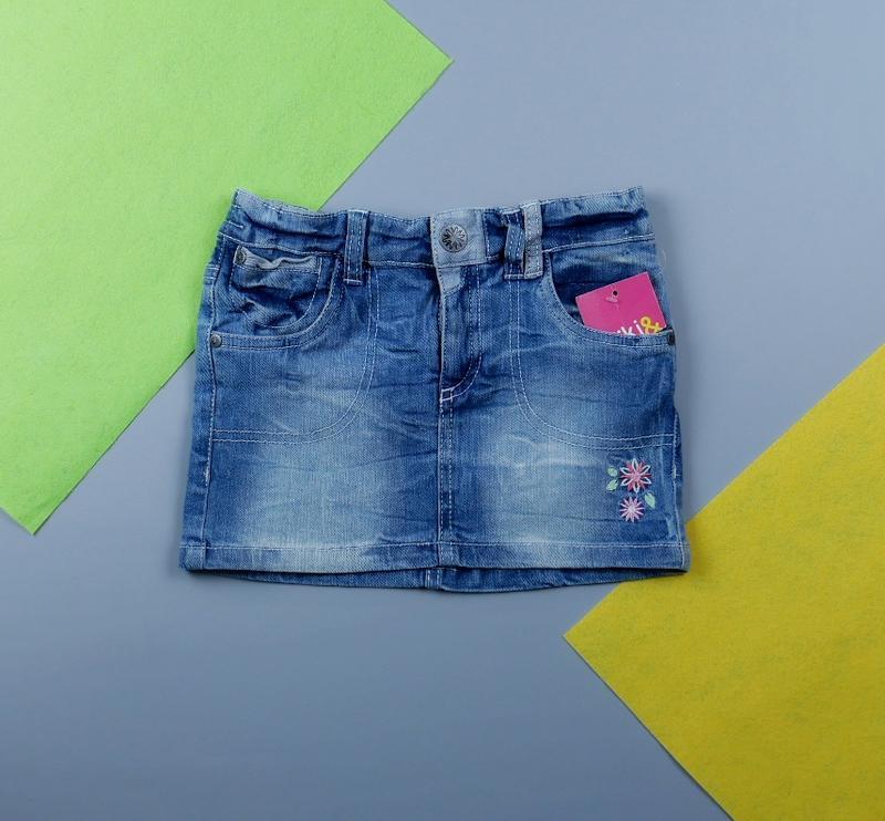 Джинсовая юбка на 6-7 лет, рост 116-122 см