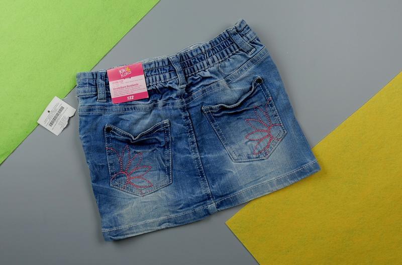 Джинсовая юбка на 6-7 лет, рост 116-122 см - Фото 2