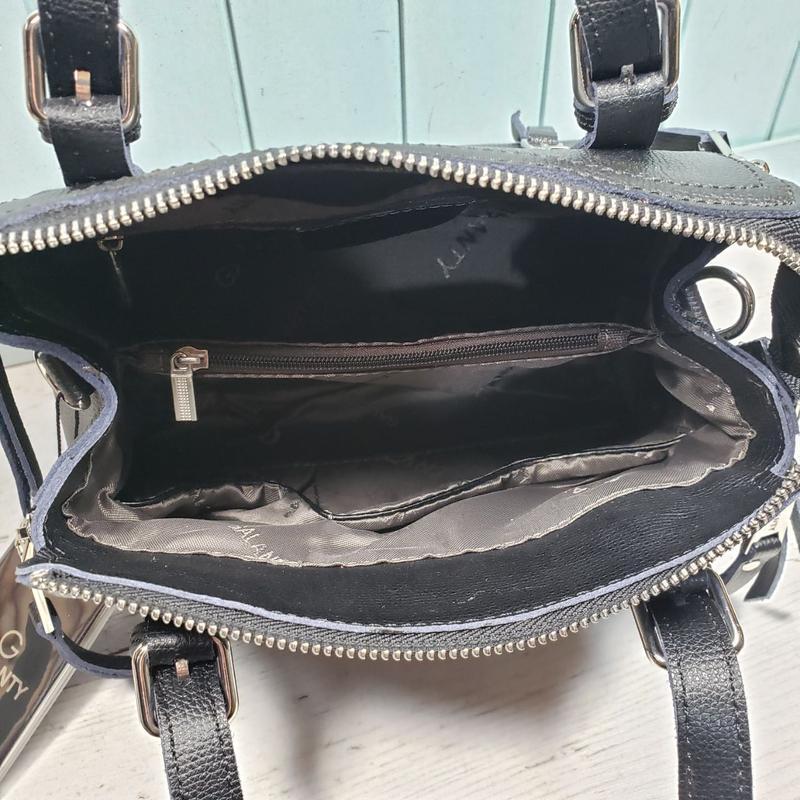 Женская кожаная сумка galanty чёрная жіноча шкіряна чорна - Фото 6