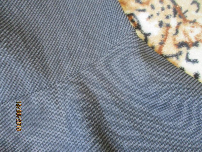 Юбка миди с воланом/серая в мелкую гусиную лапку - Фото 7