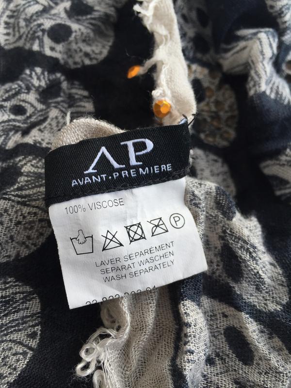 Стильный шарф с черепами avant premiere , вискоза платок - Фото 4