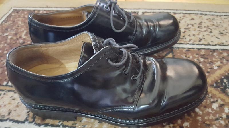 Неубиваемые кожаные ботинки пр-ва: италия! 8.5р 27.7 см