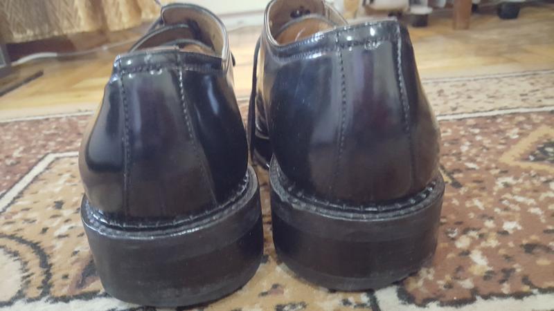Неубиваемые кожаные ботинки пр-ва: италия! 8.5р 27.7 см - Фото 4