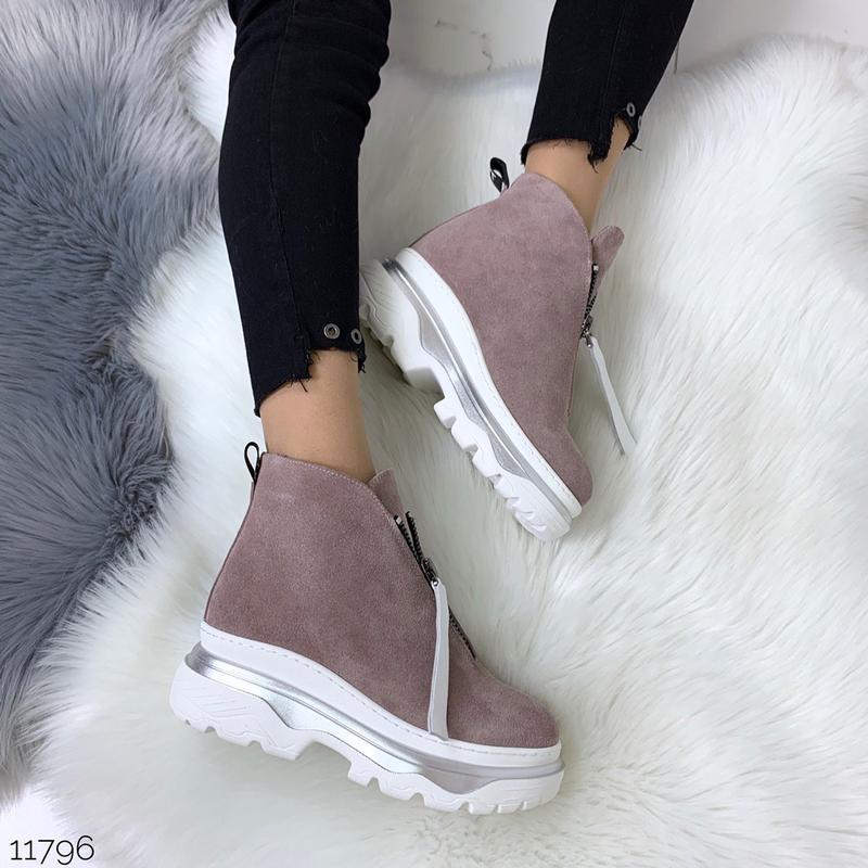 Зимние ботинки из натуральной замши в четырех расцветках - Фото 6