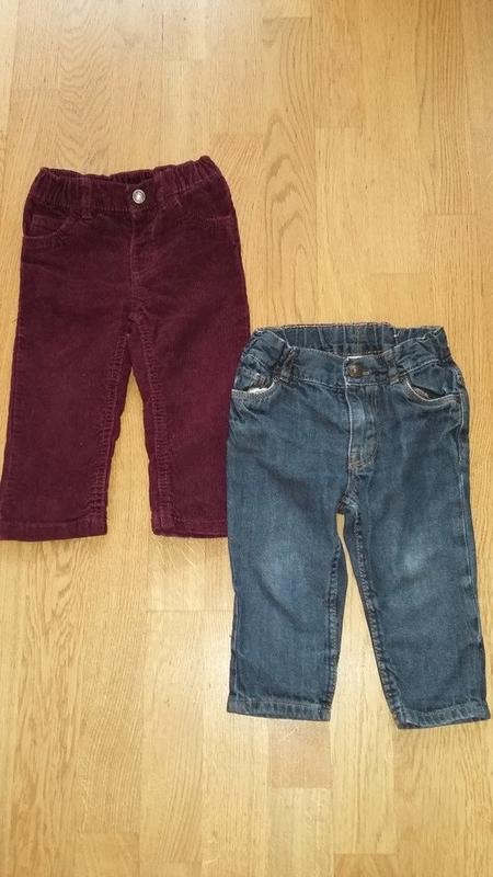 Комплект брюк для мальчика (вельветовые штанишки carter's и дж...