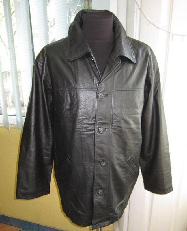 Большая кожаная мужская куртка rover & lakes. германия. лот 564