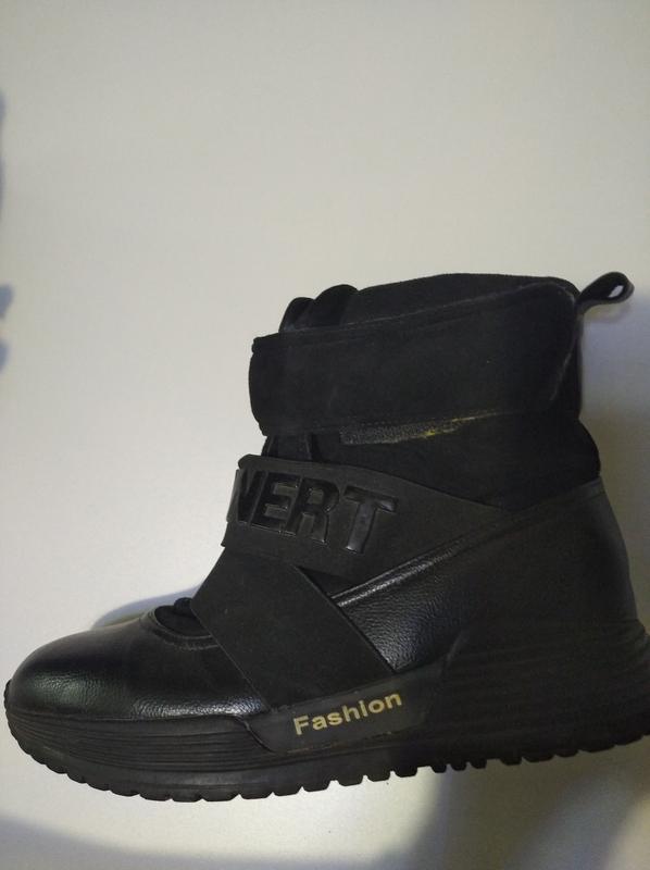 Ботинки зимние женские с  искус. мехом .Размер 40.Цвет черный - Фото 2
