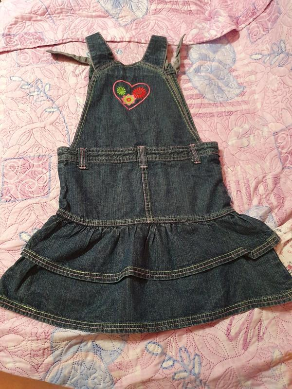 Джинсовый сарафан платье inscene 128 рост, 6-8 лет
