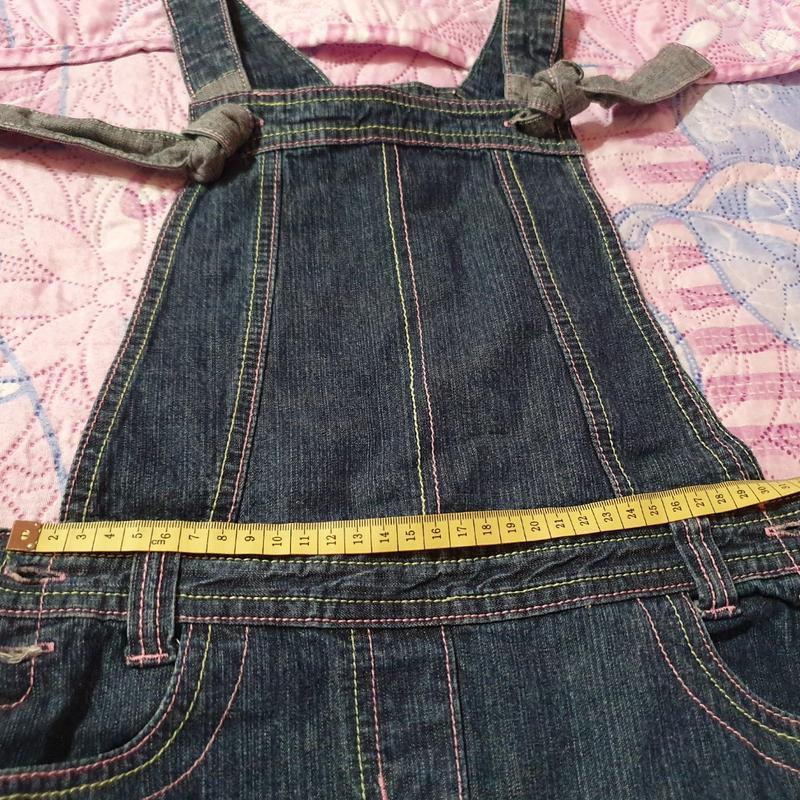 Джинсовый сарафан платье inscene 128 рост, 6-8 лет - Фото 2