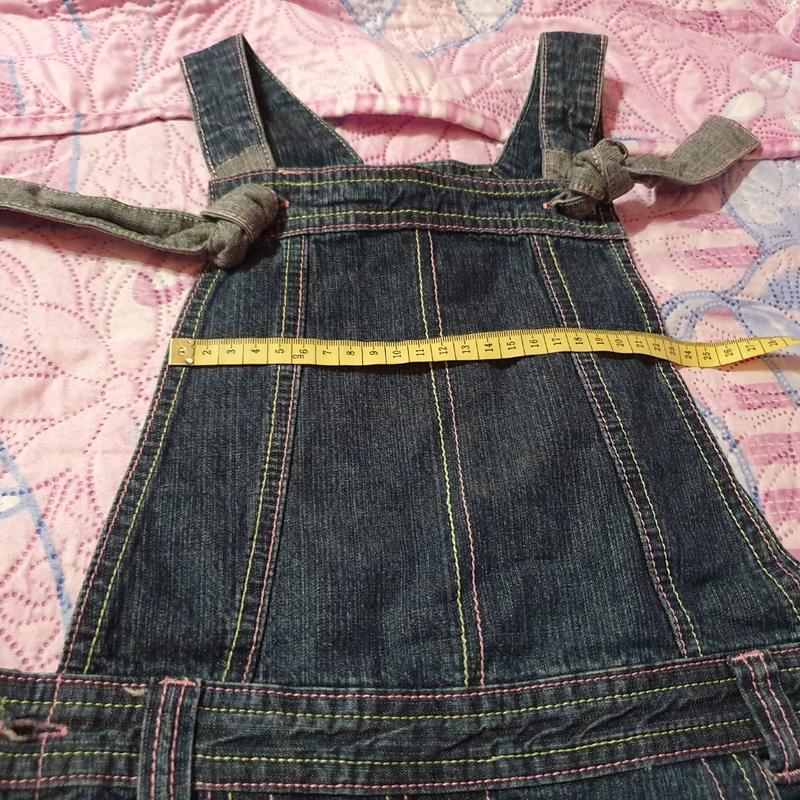 Джинсовый сарафан платье inscene 128 рост, 6-8 лет - Фото 3