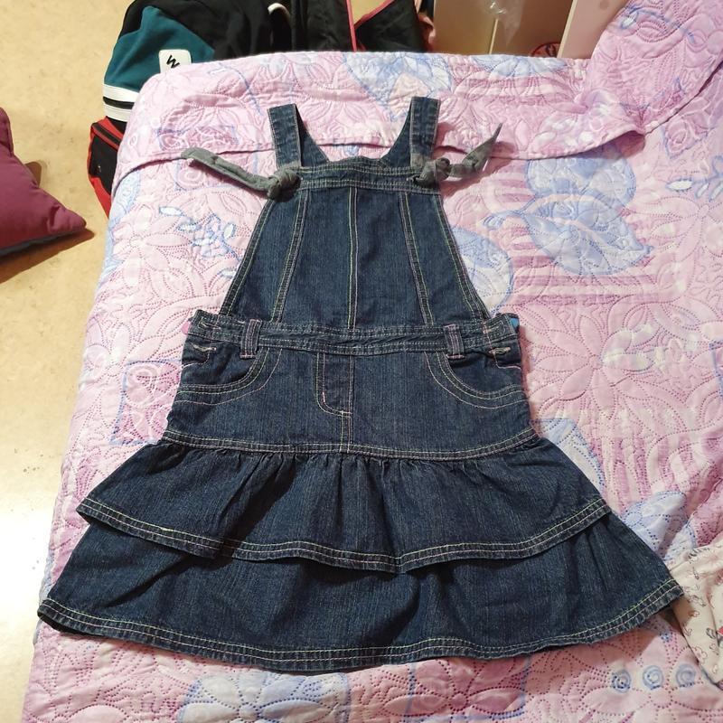 Джинсовый сарафан платье inscene 128 рост, 6-8 лет - Фото 6