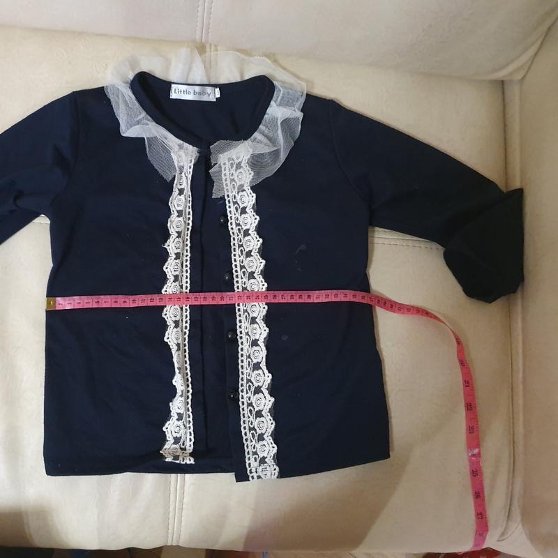 Реглан кофта нарядная  школьная 7-9 лет - Фото 4